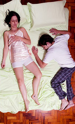 Posição para casal dormir: Caranguejo